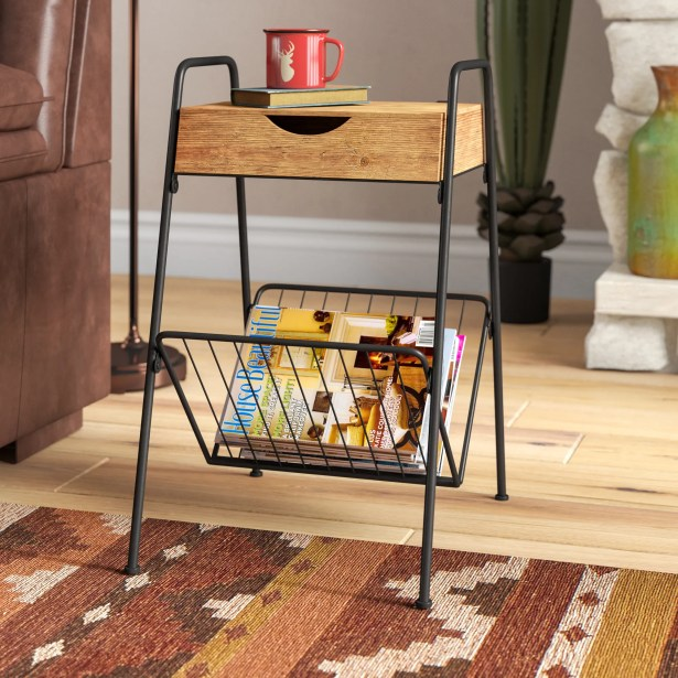 Droz End Table with Storage