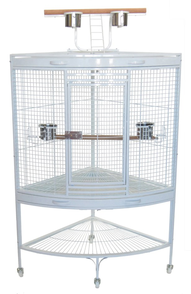 Parrot Bird Cage Color: White