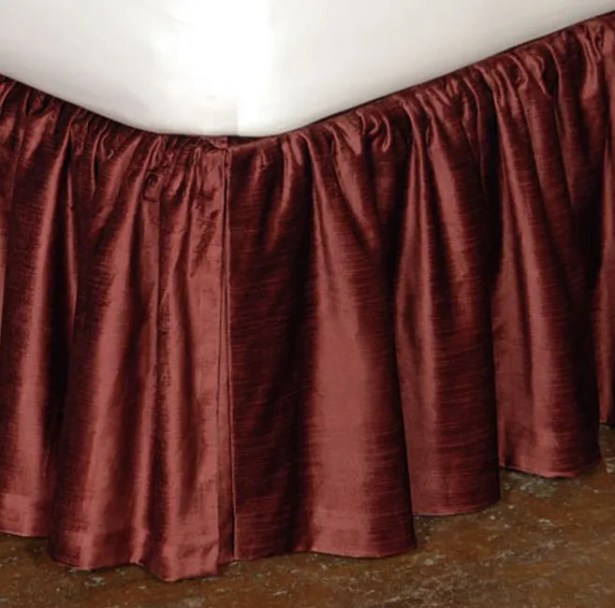Lucerne Ruffled Bed Skirt Size: California King, Color: Spice