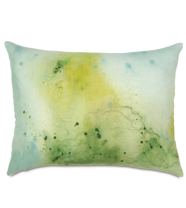 Portia Hand-Painted Lumbar Pillow