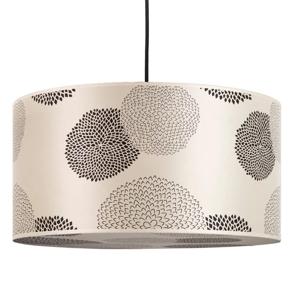 Meridian 2-Light Pendant Shade Color: Ivory Ipanema