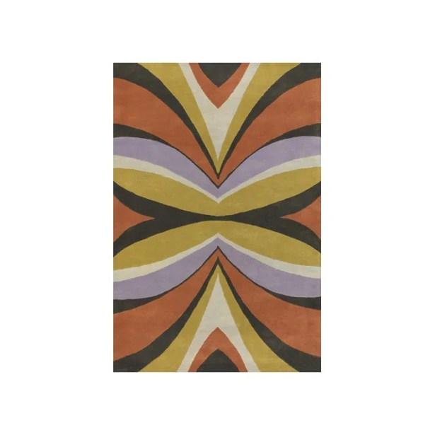 Stickel Yellow/Purple Area Rug Rug Size: Round 7'9