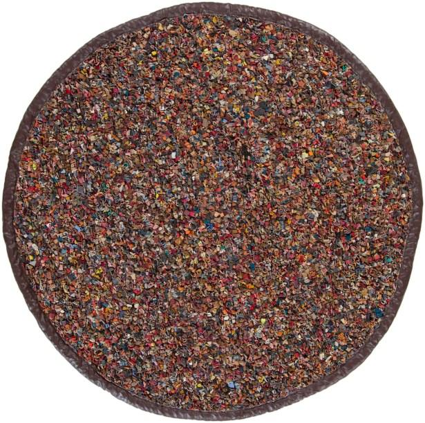 Gizem Brown Area Rug Rug Size: Round 4'