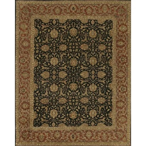 Freeland Black/Red Area Rug Rug Size: 9' x 12'