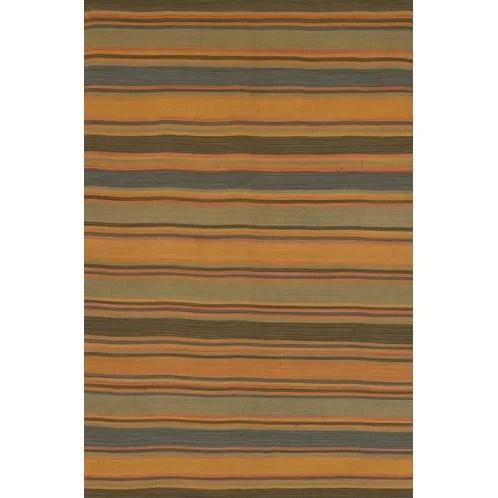 Barbazan Hand Woven Striped Rug Rug Size: 7'9