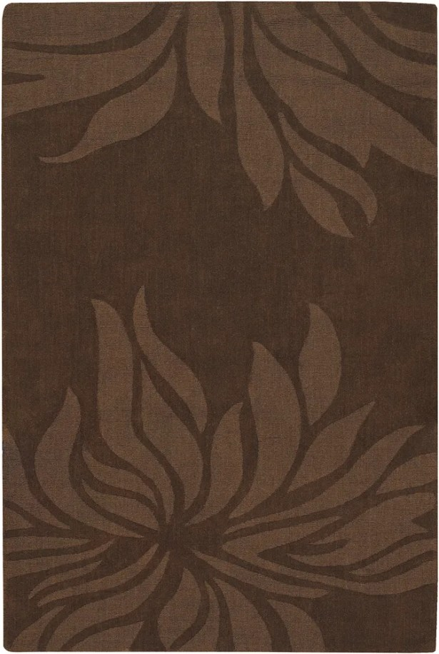 Piche Brown Floral Area Rug Rug Size: Rectangle 5' x 7'