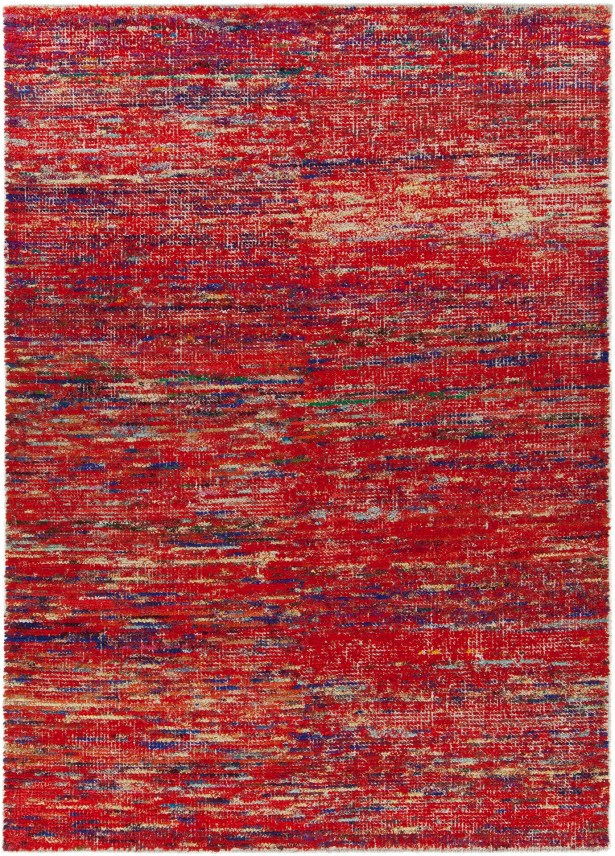 Marcial Hand-Woven Red Area Rug Rug Size: 5' x 7'6
