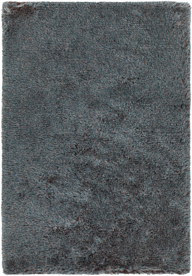 Gareth Hand-Woven Blue/Brown Area Rug Rug Size: 7'9