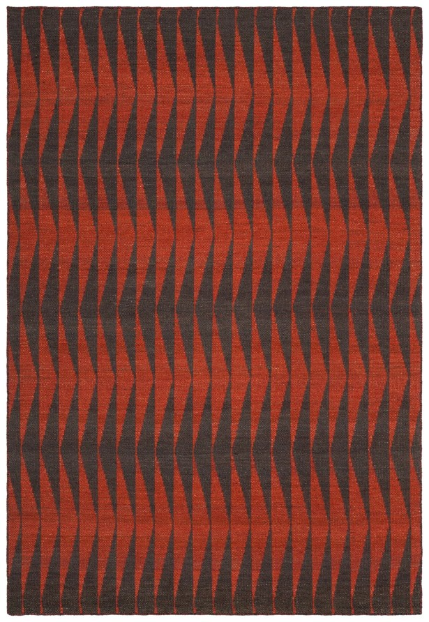 Reagan Hand-Woven Wool Red Area Rug Rug Size: Rectangle 7'9