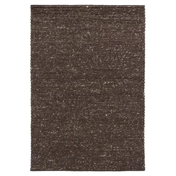Valencia Dark Brown Area Rug Rug Size: 5' x 7'6