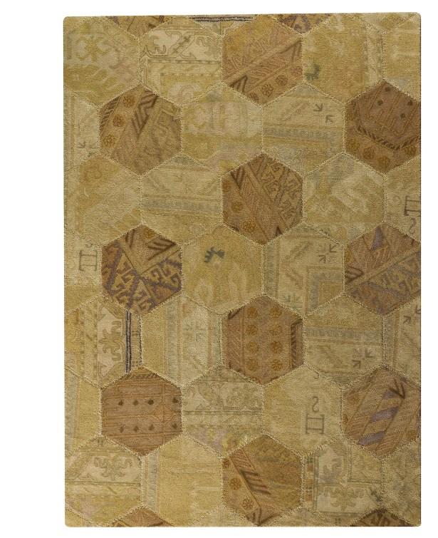 Elizabeth Honey Comb Light Beige Geometric Area Rug Rug Size: 7'10