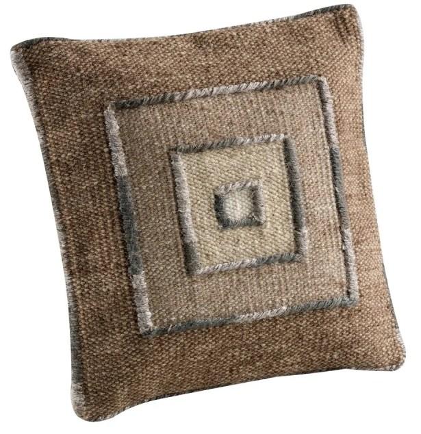 Ermanno Throw Pillow Size: 16