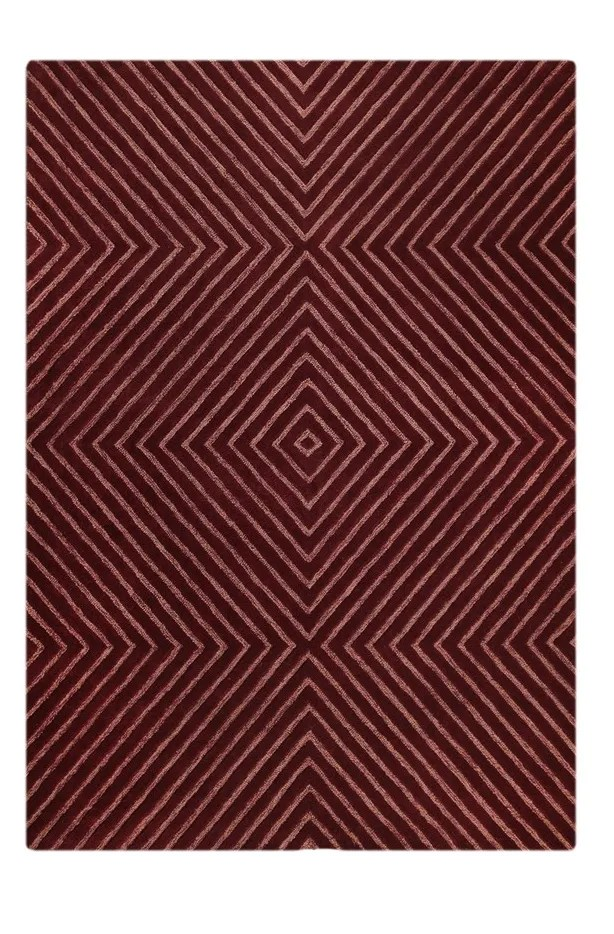 Union Hand-Tufted Wool Mauve Area Rug Rug Size: 7'6