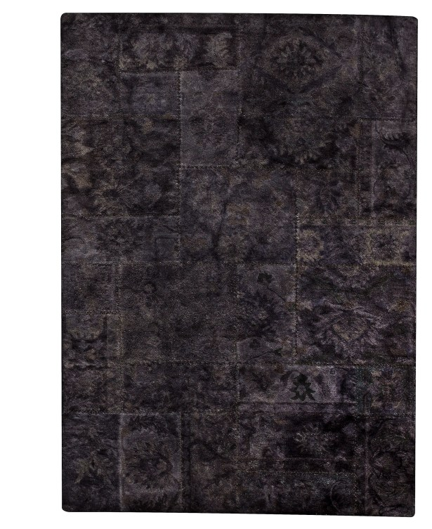 Sarangi Hand-Tufted Wool Black Area Rug Rug Size: Rectangle5'2