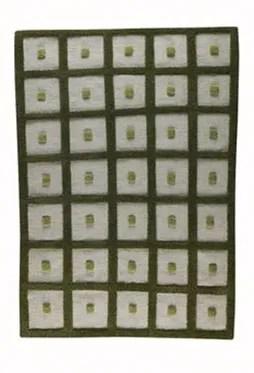 Winona Green Frame Area Rug Rug Size: 6'6