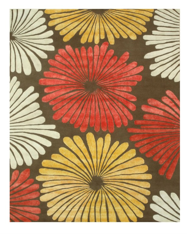 Sunflower Hand-Tufted Wool Brown Area Rug Rug Size: Rectangle 8' x 10'