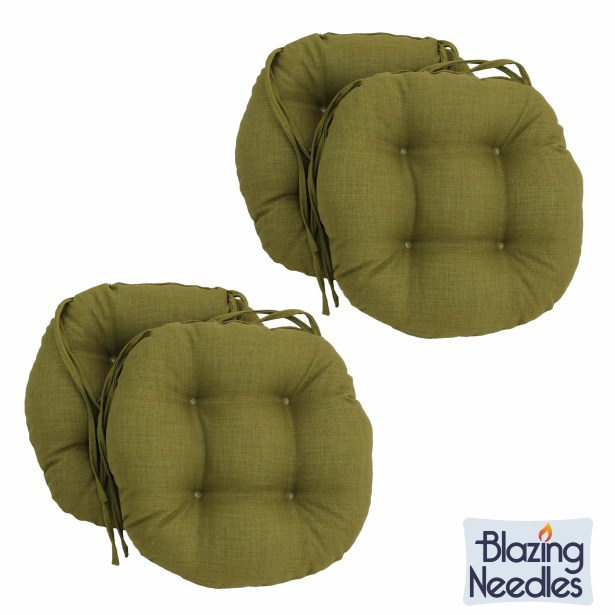 Blazing Needles 16-inch Round Indoor/Outdoor Chair Cushions Fabric: Lime