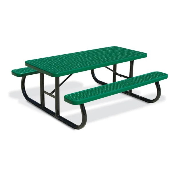 Picnic Table Finish: Red, Table Size: 64.25