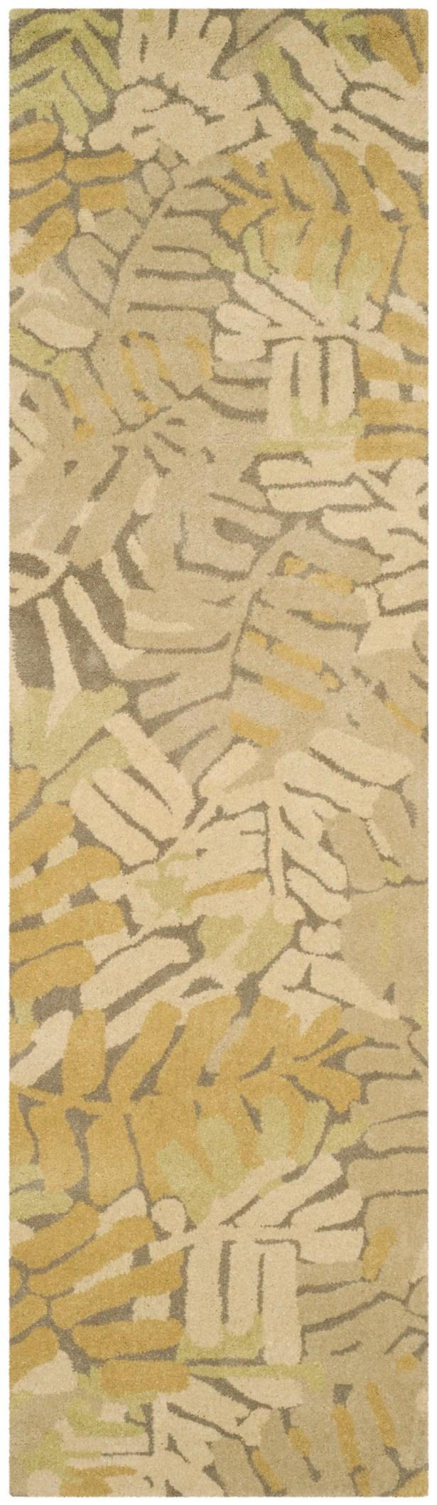 Palm Leaf Hand-Loomed Oolong Tea Area Rug Rug Size: Rectangle 9' x 12'