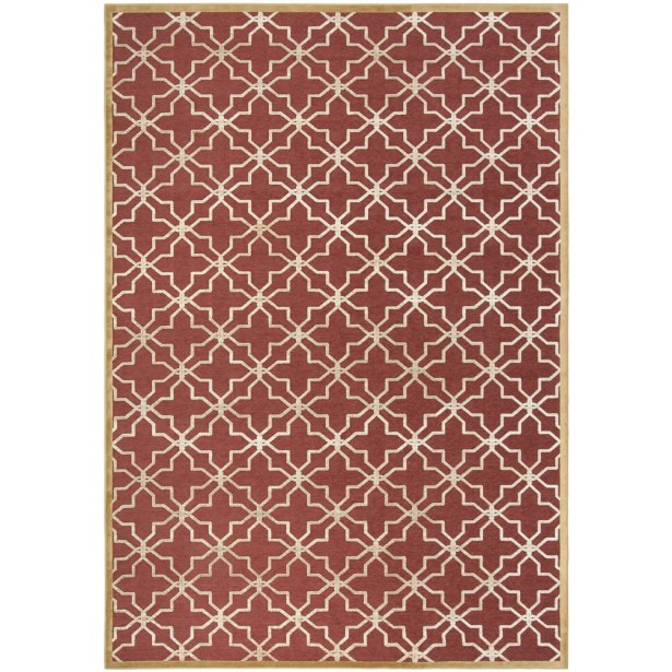 Star Gradient Red/Ivory Area Rug Rug Size: Rectangle 8' x 11'2