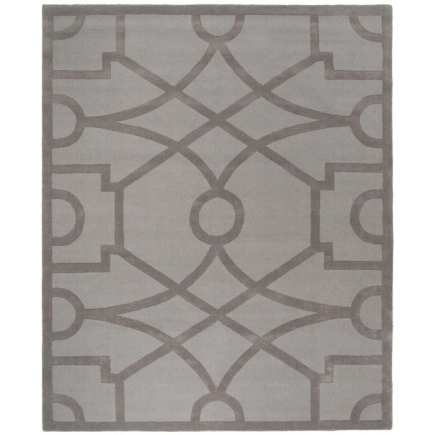 Martha Stewart Fretwork Tufted / Hand Loomed Area Rug Rug Size: Rectangle 8' x 10'