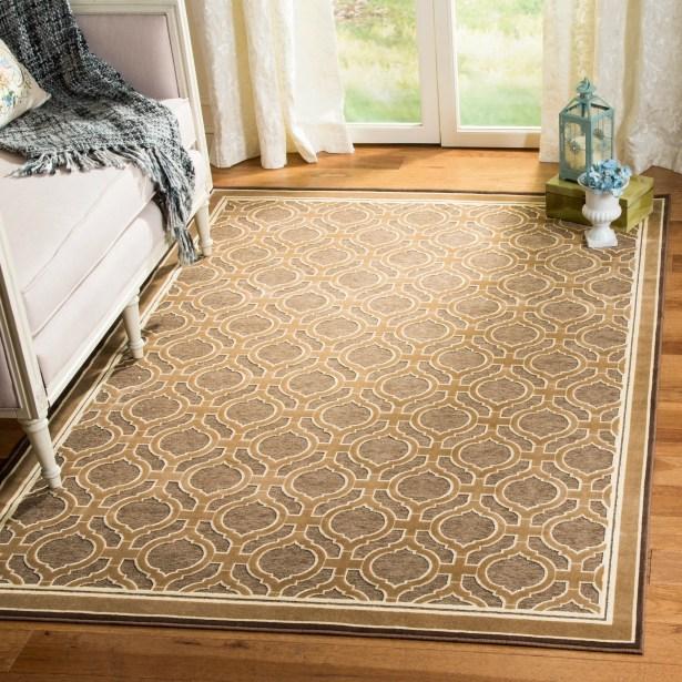 Martha Stewart Tufted / Hand Loomed Tan/Brown Area Rug Rug Size: Rectangle 8' x 11'2