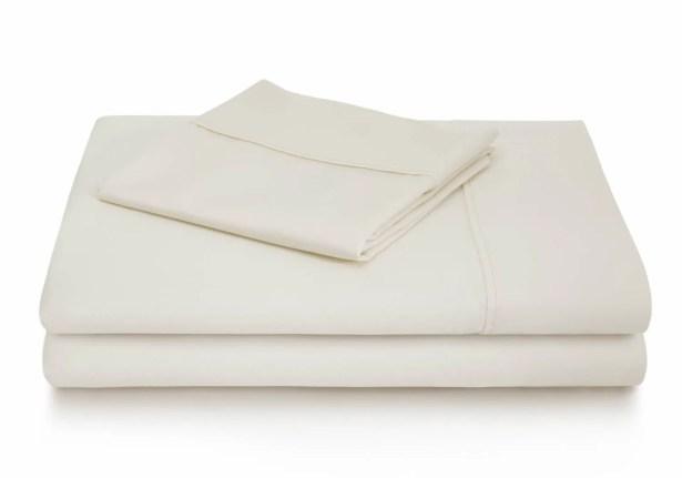 Dan Woven 600 Thread Count Cotton Blend Sheet Set Color: Ivory, Size: Twin XL