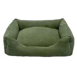 Davey Luxury Swaddlez Bolster Pet Bed Color: Moss, Size: Medium - 27