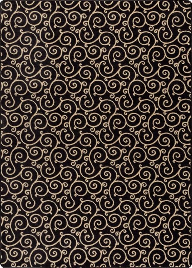 Hawkinge Black Area Rug Rug Size: Rectangle 7'8