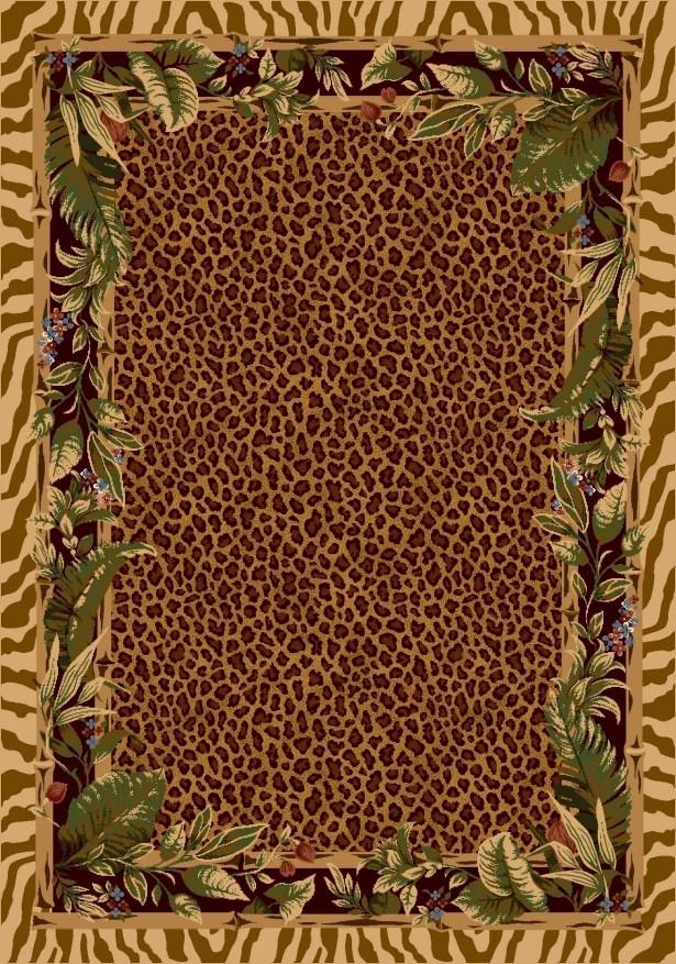 Signature Jungle Safari Pale Topaz Area Rug Rug Size: Rectangle 2'1