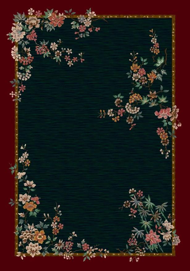 Signature Mindre Emerald Area Rug Rug Size: Square 7'7