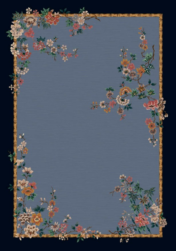 Signature Mindre Lapis Floral Area Rug Rug Size: Oval 5'4