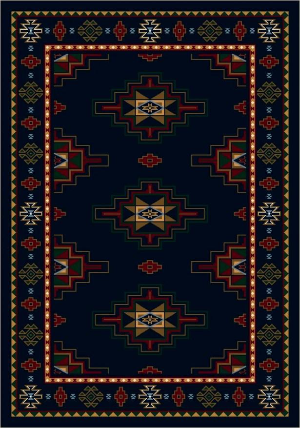 Signature Prairie Star Sapphire Area Rug Rug Size: Rectangle 3'10