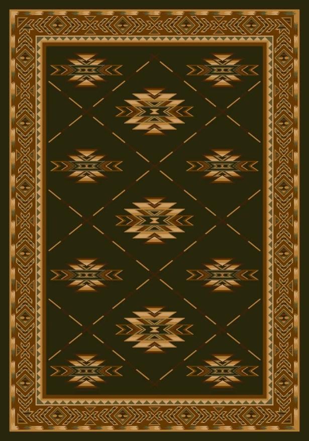 Signature Shiba Olive Area Rug Rug Size: Square 7'7