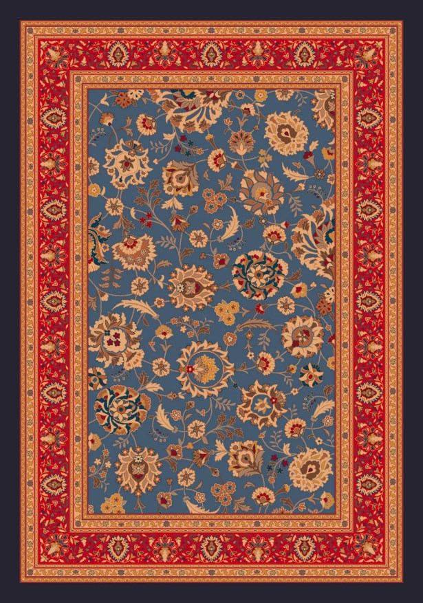 Pastiche Aydin Moor Blue Rug Rug Size: Rectangle 5'4