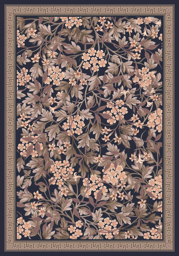 Pastiche Delphi Floral Ebony Rug Rug Size: Rectangle 7'8
