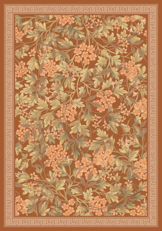 Pastiche Delphi Nutmeg Floral Rug Rug Size: Rectangle 10'9
