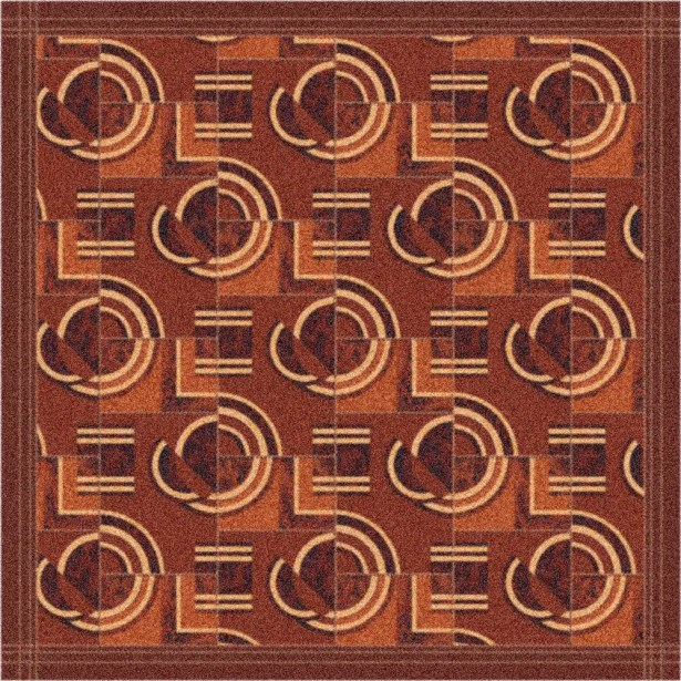 Pastiche Modernes Rusted Earth Area Rug Rug Size: Octagon 7'7