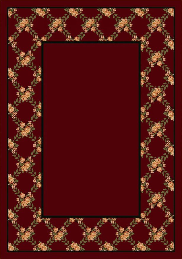 Design Center Cranberry Rose Bower Area Rug Rug Size: Runner 2'4
