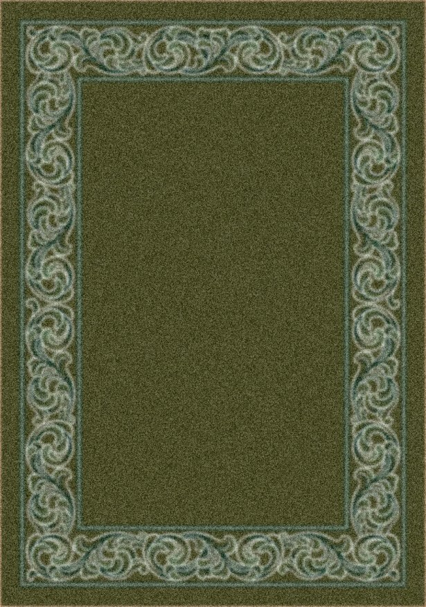 Modern Times Sonata Deep Olive Area Rug Rug Size: Square 7'7