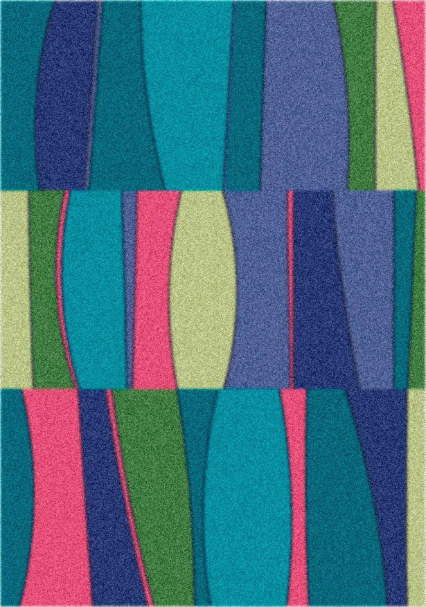 Modern Times Sinclair Fanfare Area Rug Rug Size: Square 7'7
