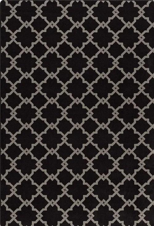 Tinsman Black/Gray Area Rug Rug Size: Rectangle 7'8