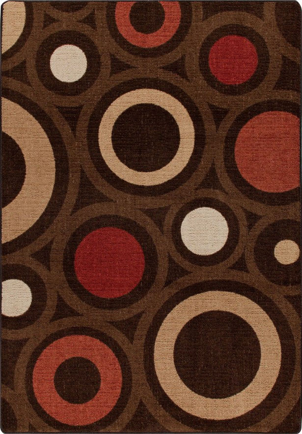 Mix and Mingle Chocolate in Focus Rug Rug Size: Rectangle 3'10