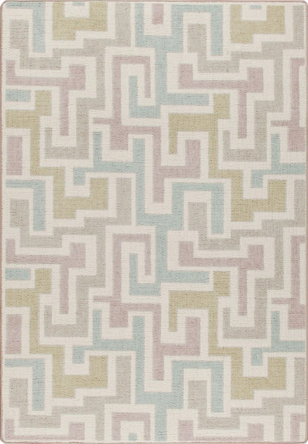 Mix and Mingle Pastel Junctions Rug Rug Size: Rectangle 7'8