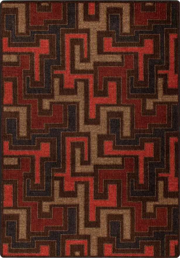 Mix and Mingle Red Umber Junctions Rug Rug Size: Rectangle 7'8