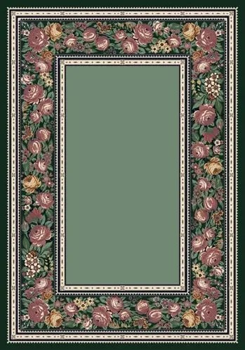 Innovation Peridot English Floral Area Rug Rug Size: Oval 5'4