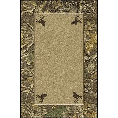 Realtree Timber Solid Center Area Rug Rug Size: Rectangle 5'4