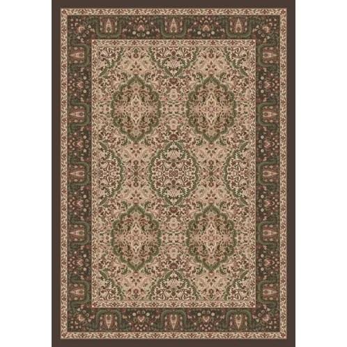 Pastiche Kashmiran Samarra Dark Brown Area Rug Rug Size: Oval 3'10