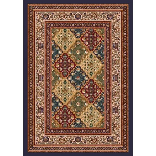 Pastiche Kashmiran Tournai Black Currant Area Rug Rug Size: Rectangle 7'8