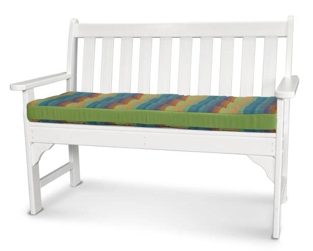 Luxe? Indoor/Outdoor Sunbrella Bench Cushion Size: 43